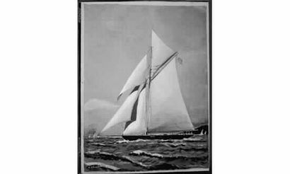 Victor ORLOFF « Grand yacht vu par babord...