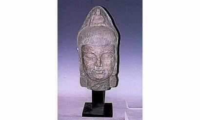 Dynastie Ming: Exceptionnel tête de Kwan...