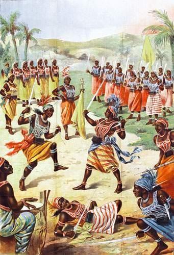 ZOO HUMAINS Amazones du Dahomey 1885 Affiche...