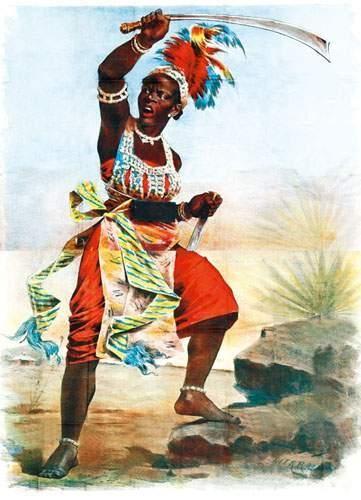 ZOO HUMAINS Les amazones du Dahomey 1885...
