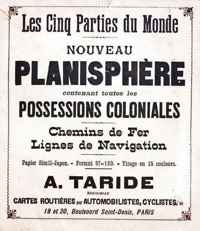 COLONIES / COLONIAL Nouveau planisphère Les...