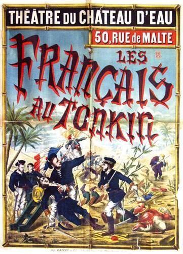 COLONIES / COLONIAL Les Français au Tonkin...