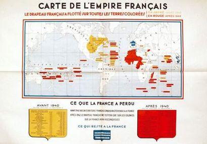 COLONIES / COLONIAL Carte de l'Empire Français...