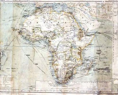 COLONIES / COLONIAL Carte Politique d'Afrique...