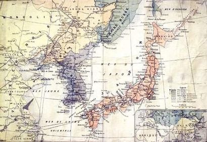 COLONIES / COLONIAL Carte des Ports Asiatiques...
