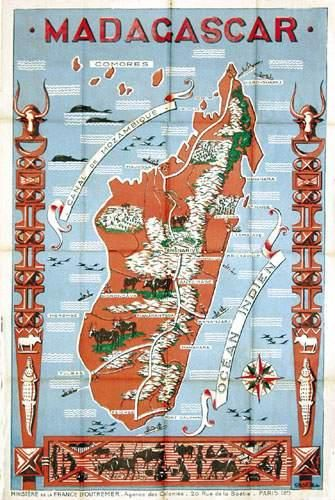 AFRIQUE / AFRICA Madagascar (Carte) Ministère...