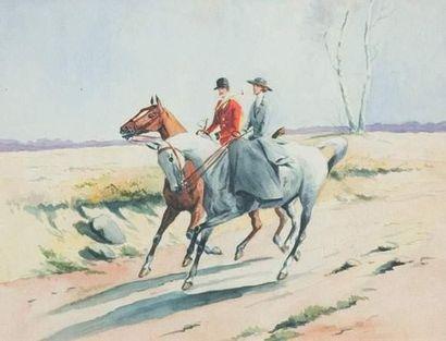 Xavier de PORET (1894-1975) « Retour de chasse,...