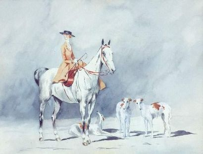 Xavier de PORET (1894-1975) « Amazone en...