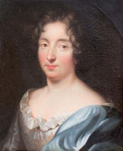 École FRANÇAISE fin XVIIe siècle « Femme...