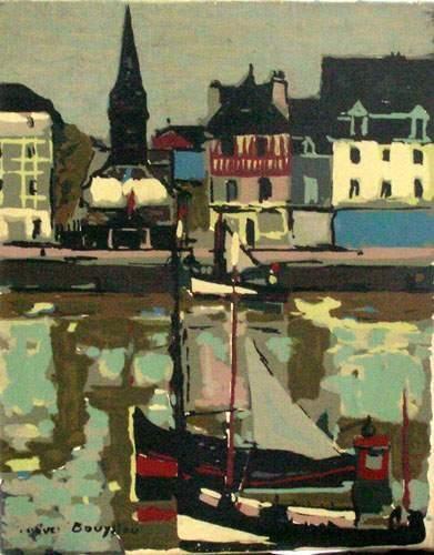 Jacques BOUYSSOU (1926-1997) Musée de la Marine à Honfleur Toile. Signé en bas à...