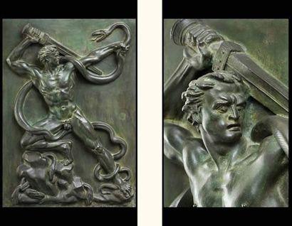 Arno BREKER (1900-1991) Bas-relief Le combat contre les serpents (Der Warder) (1940)....