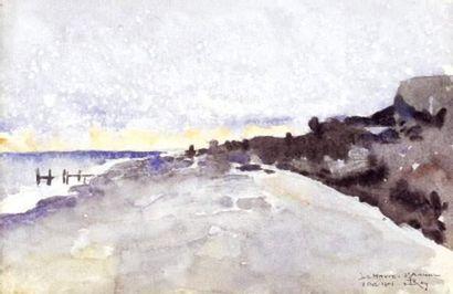 Pierre ROY (1890-1950) Le Havre - Sainte Adresse Aquarelle. Signée en bas à droite...