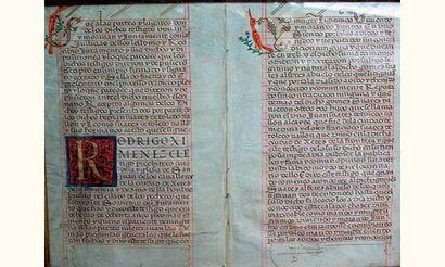 Espagne, XVIe siècle Double feuillet d'un...