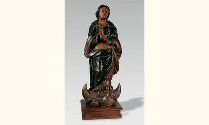 Vierge de l'Immaculée Conception en bois...