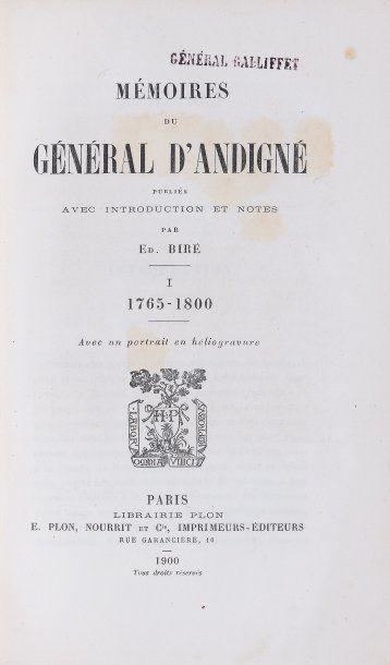 ANDIGNÉ de LA BLANCHAYE,