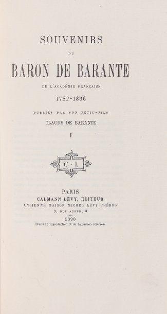 BARANTE, Prosper Brugière,