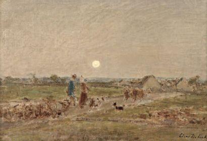 COCK César de (1823-1904), ECOLE BELGE