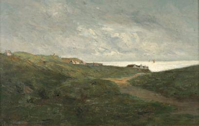 CHINTREUIL Antoine (1816-1873) « Scène mythologique » Huile sur toile, réentoilée....