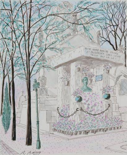 La tombe d'Allan Kardec au Père Lachaise...