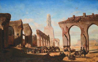 Ecole orientaliste de la fin du XIXème ou du début du XXème siècle