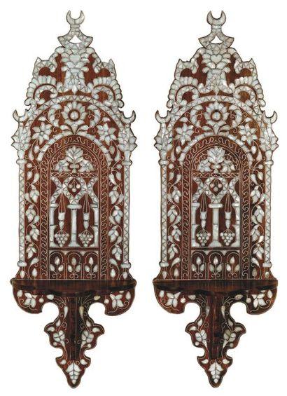 Paire de porte-turbans, « kavukluk », en...