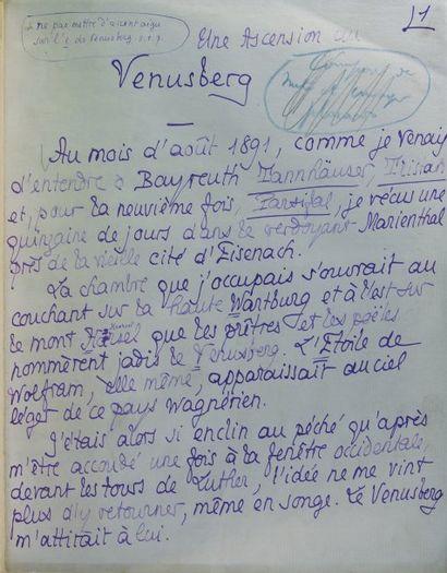 Manuscrit autographe de Pierre Louys intitulé...
