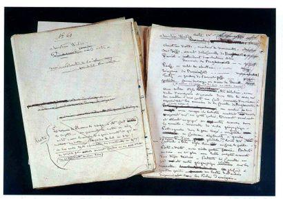 SAND (George) Manuscrit autographe de George Sand. «Christian Waldo ». Comédie en...
