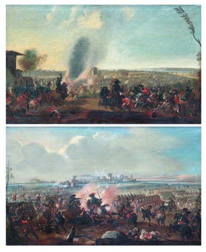 ÉCOLE ALLEMANDE, XVIIIe siècle La Bataille...
