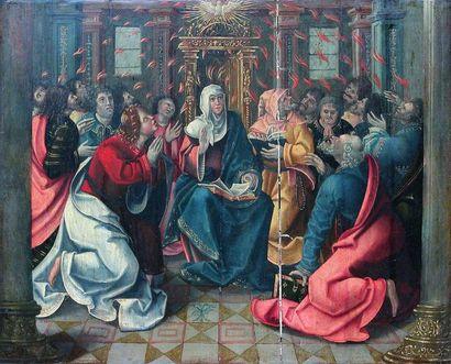 ÉCOLE HOLLANDAISE, vers 1540 La Pentecôte....