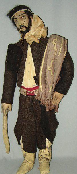 Rare et originale poupée en feutrine représentant...