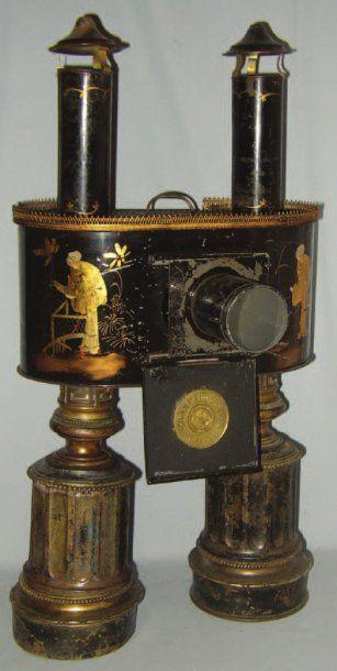 « LAMPADORAMA » bel appareil en métal peint...