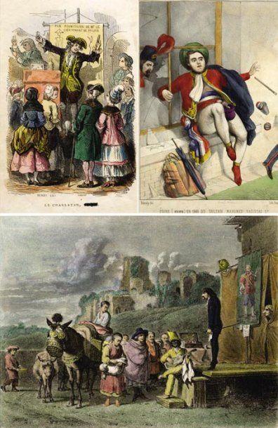 """Ensemble de 21 gravures diverses 1. """"L'Escamoteur"""" de Jean Duplessi-Bertaux (1747-1819)..."""