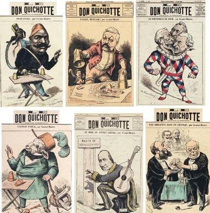 """Huit premières pages de la revue satirique """"Le Don Quichotte"""" """"Le Don Quichotte""""..."""