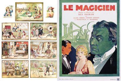 """Ensemble de 15 reproductions grand format dont """"Le Tricheur"""" de Georges de La Tour,..."""