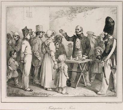 """Ensemble de quatre gravures 1. """"Diableries fantastiques"""" de Charles Ramelet. Avec..."""