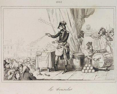 Le consulat 1802 Bonaparte Ier consul en escamoteur cachant dans sa gibecière une...