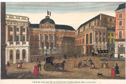 Six vues de Paris 1. Hôtel de ville. Couché...