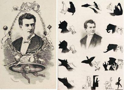 Ombres chinoises - ensemble de huit gravures...