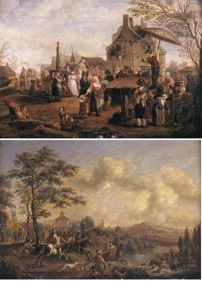 Carel VAN FALENS (1683-1733). Ensemble de...