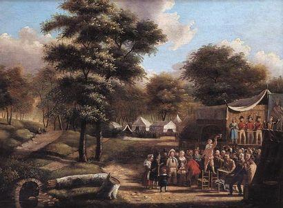 Ecole française milieu du XIXe siècle. Joueur...