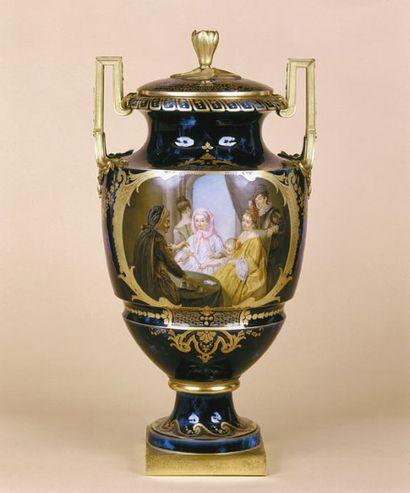 Vase de Sèvres : L'Escamoteur C'est à l'évidence...