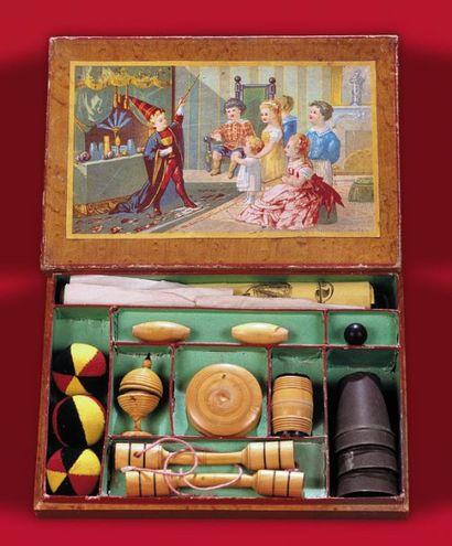 Boîte de physique amusante (vers 1880) Contient...