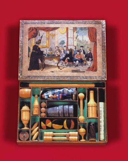 Boîte de magie : escamotage (vers 1850) Contient...