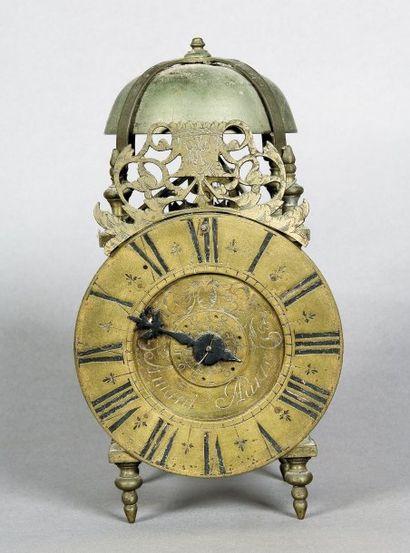 Horloge lanterne à une aiguille, cadran en...