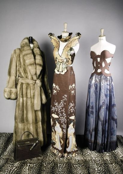 Robes Paco RABANNE Zibeline blonde Bargouzine...