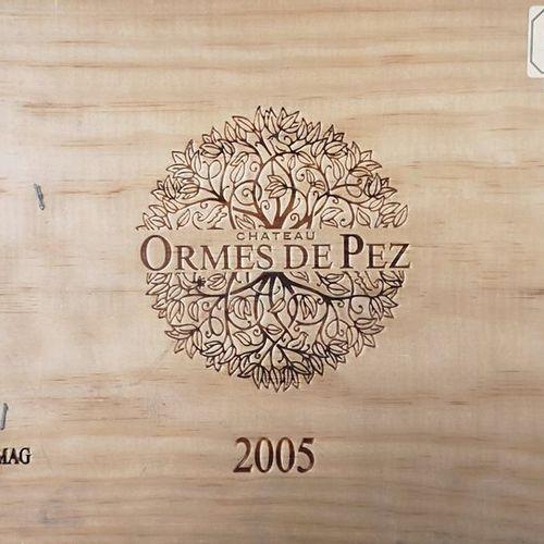 CHÂTEAU LES ORMES DE PEZ St. Estephe 2005 6 magnums Caisse bois.