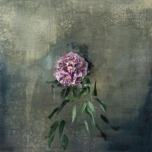 Clément ROSENTHAL VERNEUIL (1956)  Pink Peony  Oil on canvas  Signed and dated 2…