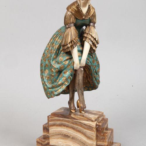 """Demetre CHIPARUS (1886 1947) """" Un léger accident """" A chryselephantine sculpture …"""