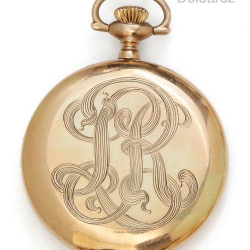 ELGIN Gold plated metal pocket watch. Gross weight: 77g.