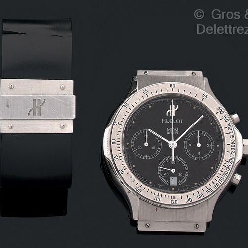 HUBLOT Vers 2000. Ref 1620 1 N°223113  Modèle chronographe homme acier à quartz …